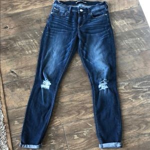 Express Jeans - Distressed legging jeans
